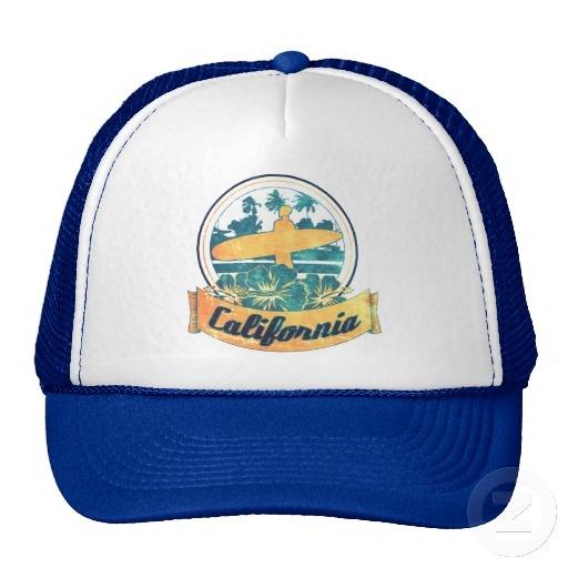 California surfboard hat