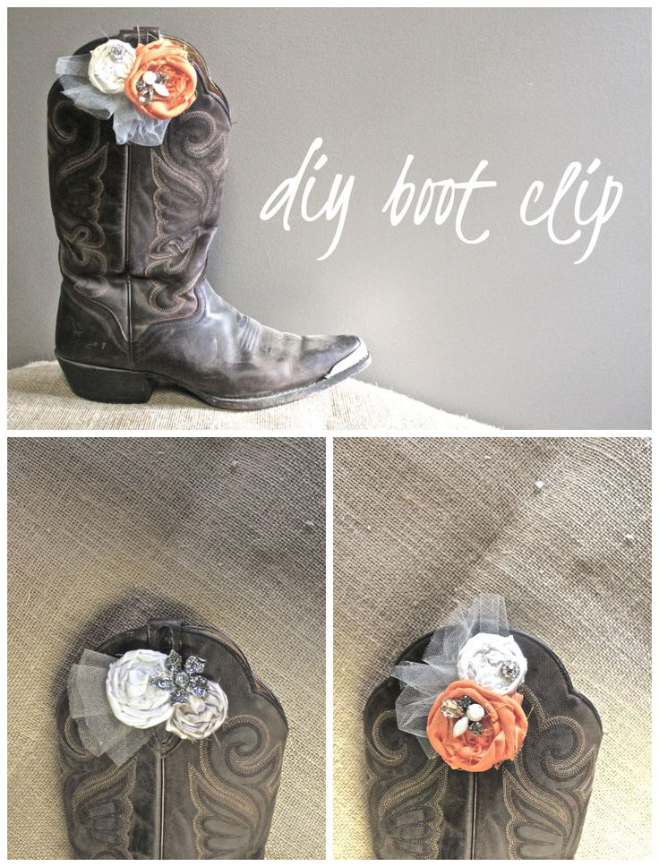 #diy style: fabric flower boot clip >> the perfect accessory for a #southern girl!