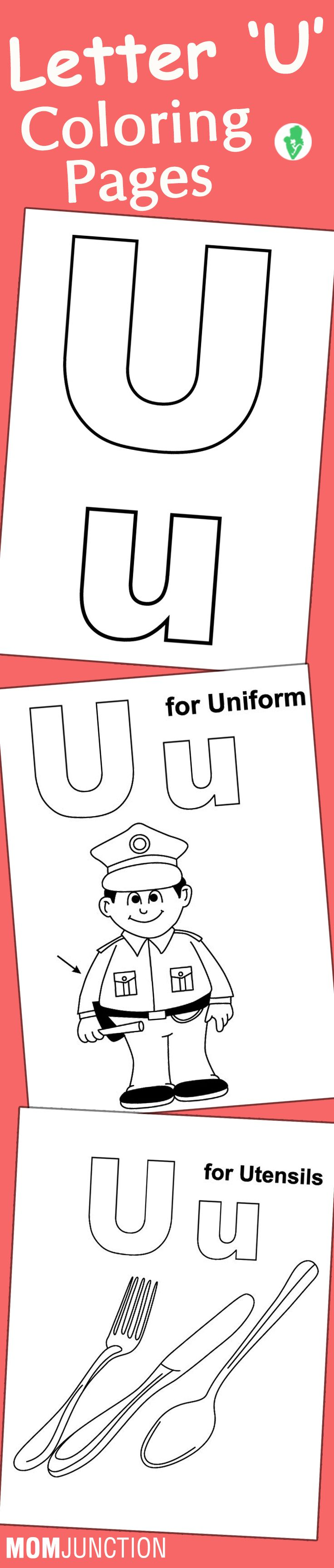 Q and u wedding coloring pages - Letter U Coloring Pages Free Printables