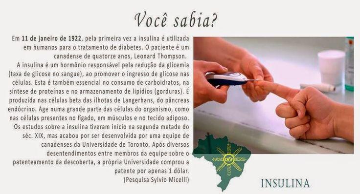 #CNSPNotícias - Você sabia? - 11 de janeiro de 2015 - A descoberta da insulina ~ Jornalista Sylvio Micelli