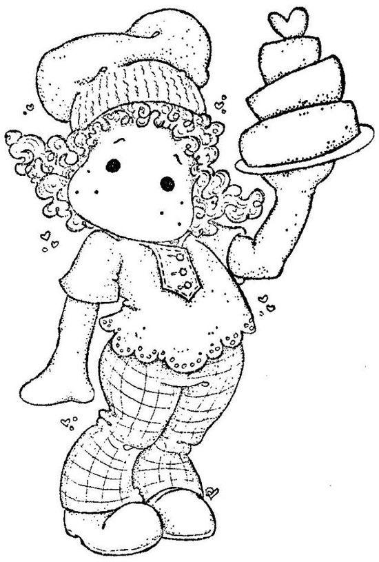 .tilda pâtissière et son gâteau 3 étages - métiers