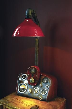Farm Lamps Made From Antique Tractor Parts