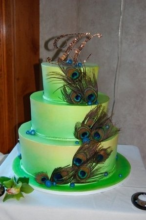 Getting closer to my perfect cake, minus the fluorescent green color.