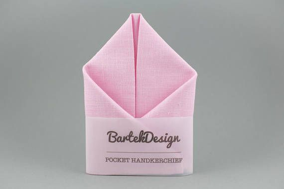 Soft Pink Pocket Square BartekDesign @Etsy