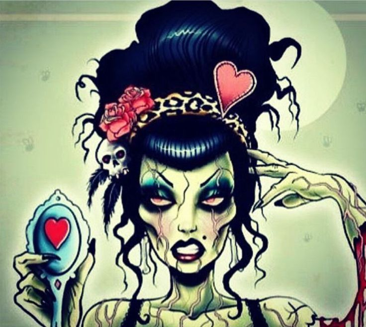 17 best images about zombie pin ups on pinterest for Zombie tattoo machine