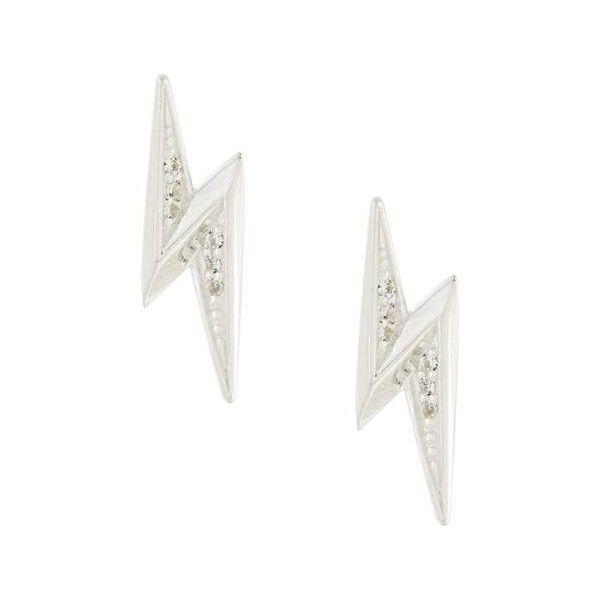 Astley Clarke Mini Lightening Bolt Biography stud earrings - Metallic tr3Ma