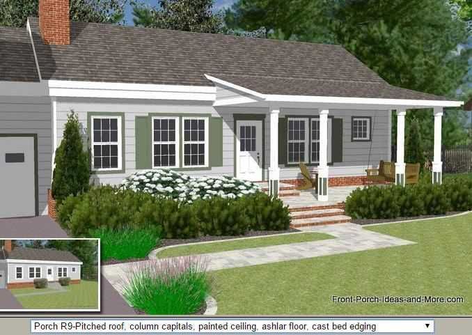 Image Result For Front Porch Ideas For Low Pitch Roofs Front