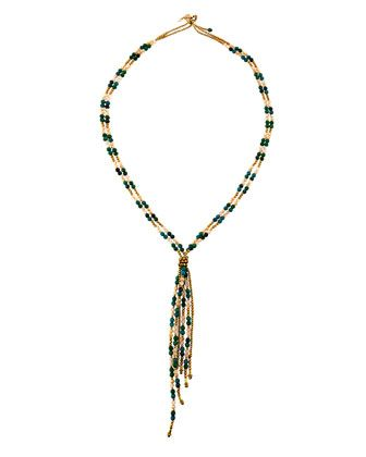 Beaded Fringe Y-Shaped Necklace by Panacea at Neiman Marcus Last Call.