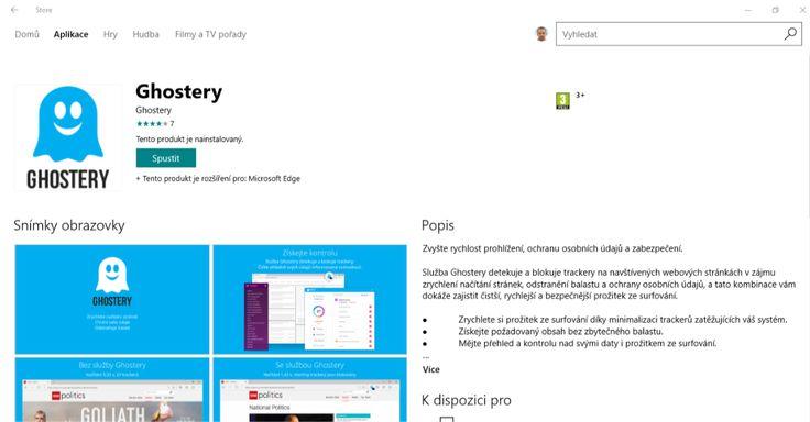 Rozšíření Ghostery analyzuje webové stránky, které navštěvujete. Na základě získaných dat nabízí pak možnost vypnut jednotlivé části webové prezentace, které nejvíce zpomaluji a ztěžují načítání stránky. Pro každou webovou stránku lze nastavit dílčí úpravy.   #Ghostery #Microsoft Edge #Rozšíření #Windows Store