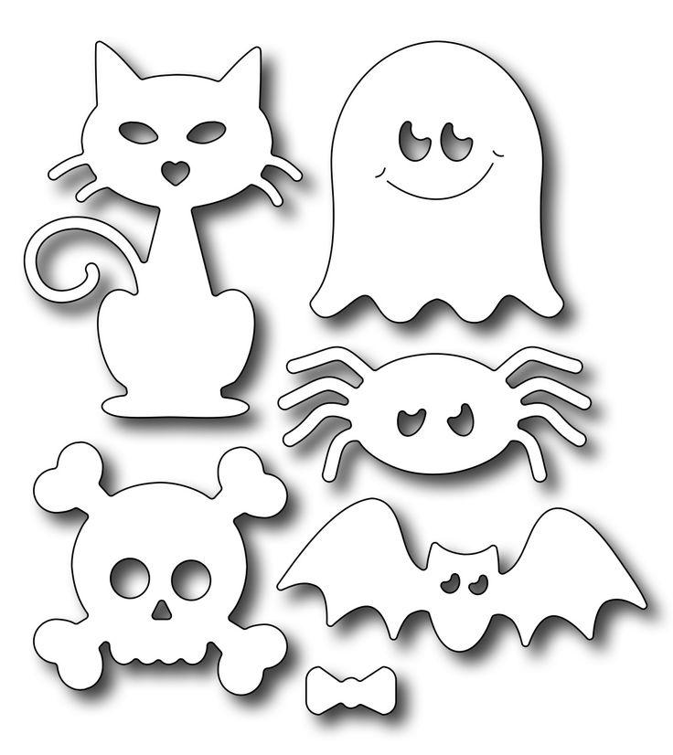 DutchPaperCrafts FRA9583 Cute Halloween Icon Die Set