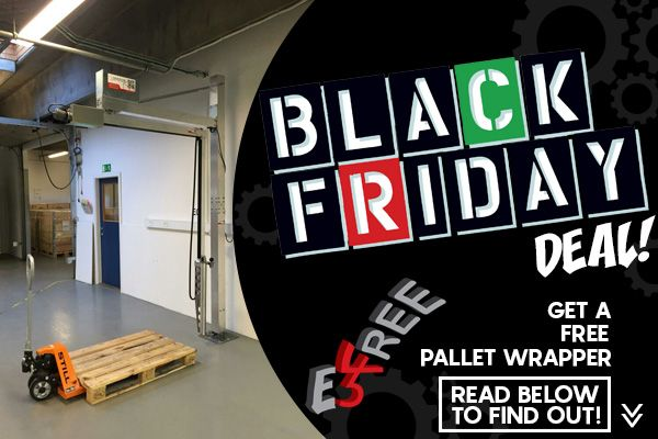 Black Friday Deal! FREE E3 Wrap 2100 Pallet Wrapping Machine.
