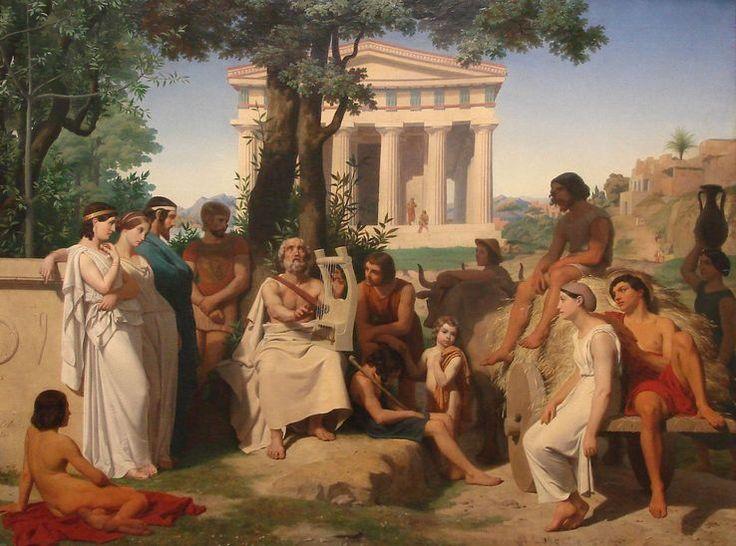 """Si dans l'Iliade et l'Odyssée """"les paroles s'envolent"""", c'est qu'Homère était un """"aède"""", un poète qui déclamait ses vers en public, et qui les chantait en s'accompagnant à la lyre."""