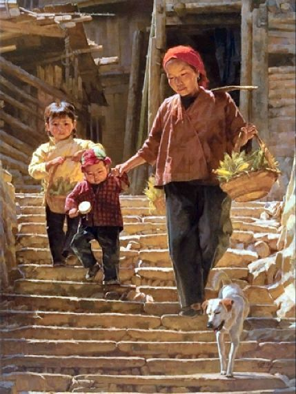Market Day In Guizhou Jie-Wei Zhou (1962, Chinese)