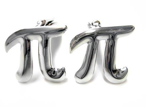 Mathematical Pi Symbol Cufflinks