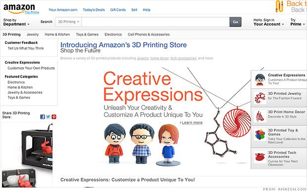 Studio Ceed shares this article about bringing 3D printing to all consumers:  Amazon launches 3-D printing store