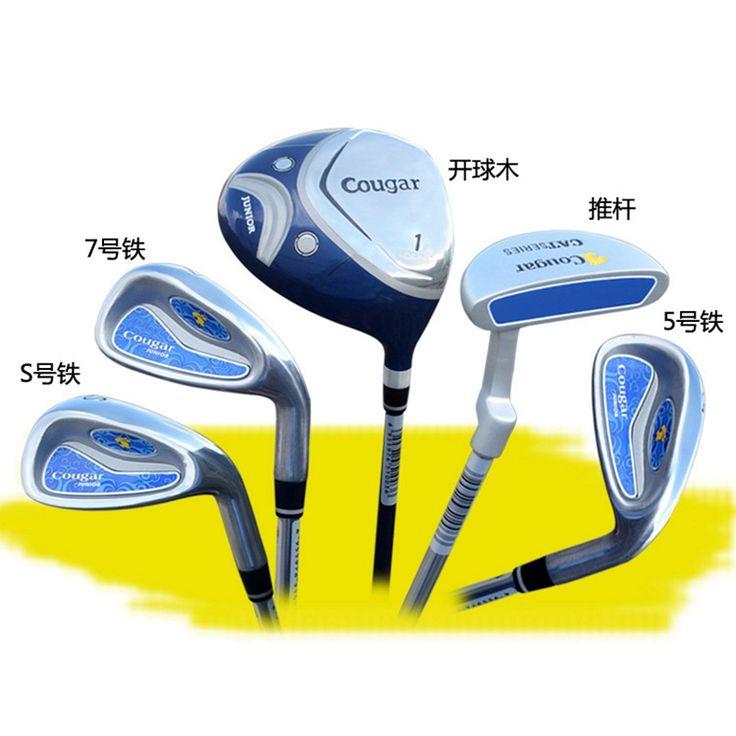 Brand COUGAR 5-pieces Junior Boys Girls Children Child Kids Golf Clubs Set with Bag Graphite Shaft