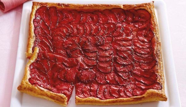 Tarte fine à la fraise