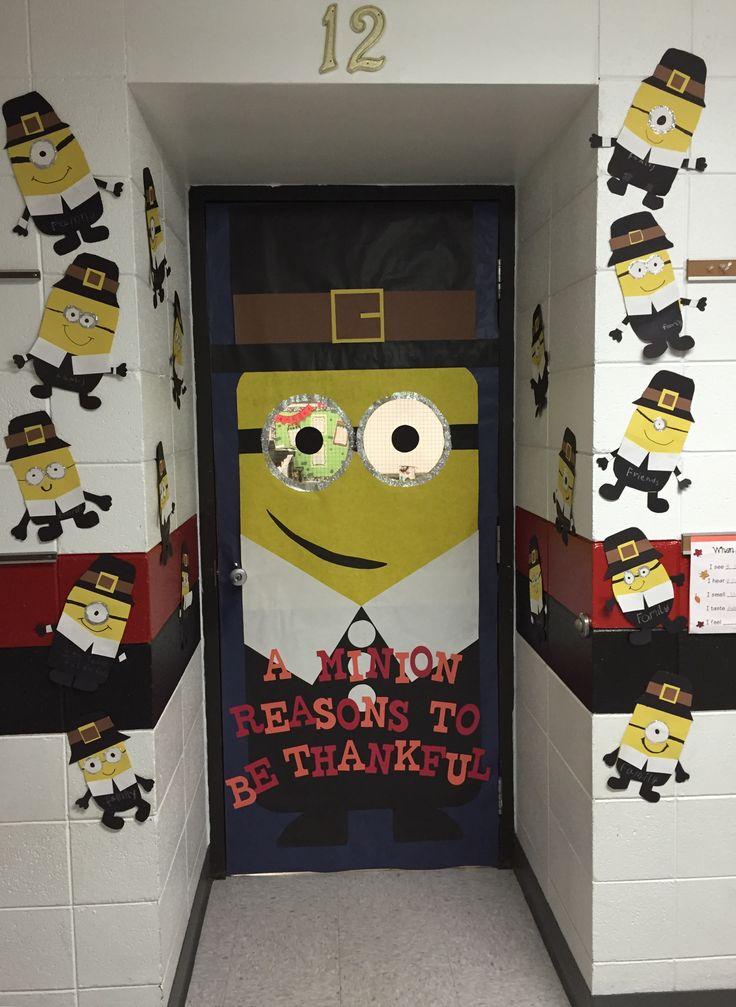 "Thanksgiving Minion door idea! A ""Minion"" reasons to be Thankful!"