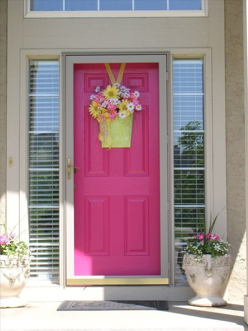 i have decided to paint our front door pink and this is the color love - Front Door Design Ideas