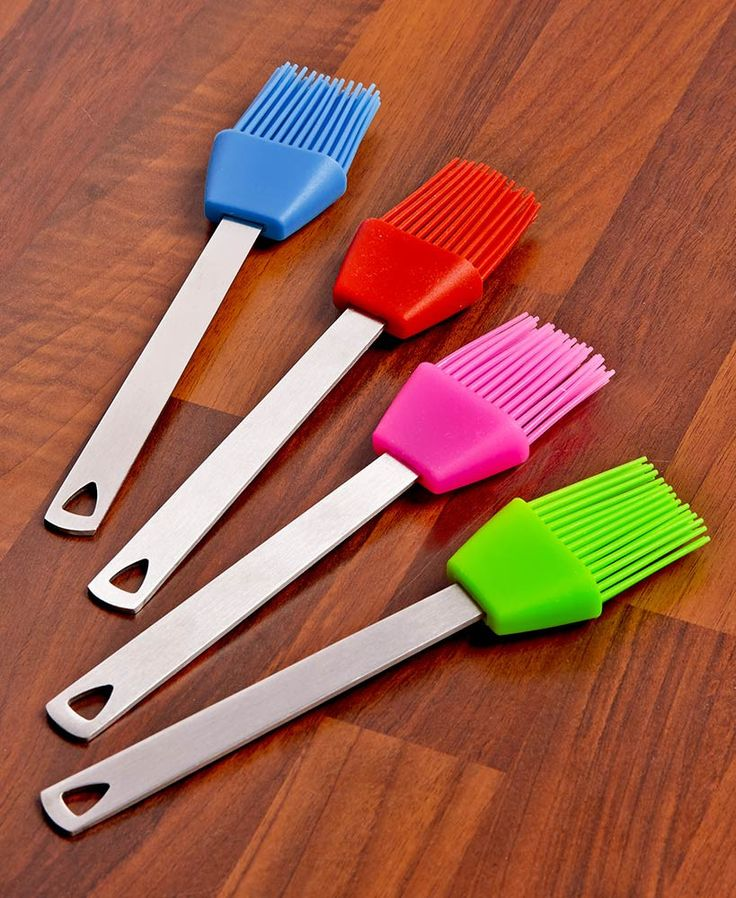 Mini Silicone Kitchen Utensil Sets Tongs Brushes Spatula Turners Whisk