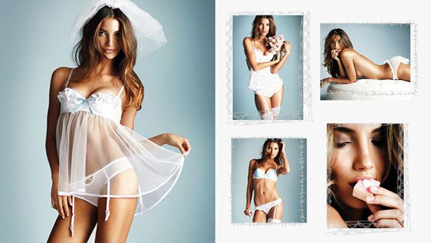 Victoria's Secret lingerie for the wedding night.