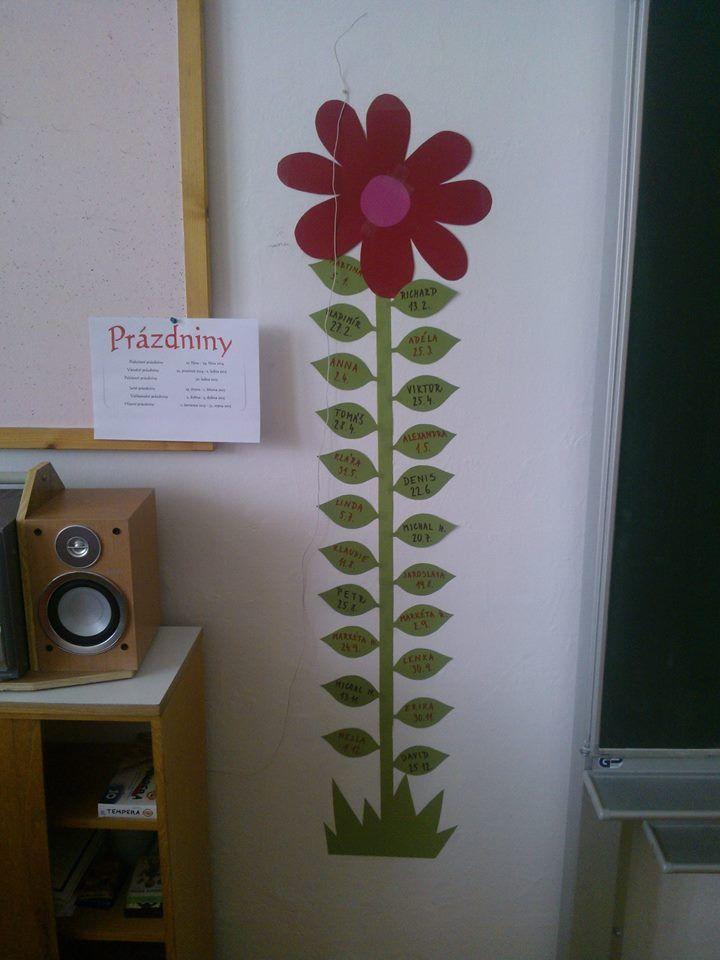 z netu - Narozeninová květinka na každém lístečku je napsáno, kdo má kdy narozeniny. Seřazeno od ledna do prosince.
