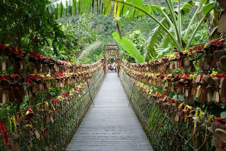 Yanoda Rainforest, Hainan China  Haven't been there, but looks like the most beautiful place I have ever seen