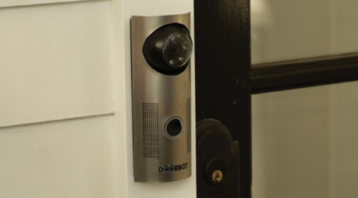 DoorBot...shows you who's at the door on your smart phone! Want!