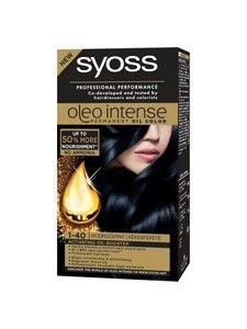 Syoss Oleo Intense Permanent 1-40 Blue Black Hair Oil Color