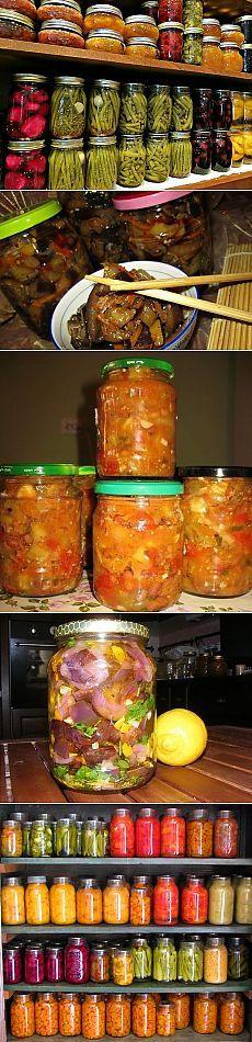 ЗАГОТОВКИ НА ЗИМУ !!!  **9 супер-рецептов: Баклажаны по- корейски, Опята маринованые, Заправка борщевая, Бесподобный вариант -салат с баклажаном и фасолью, Огурчики в кисло-сладком маринаде, Огурцы хрустящие -это необычно, Баклажаны в майонезе со вкусом грибов, Азербайджанский -салат из зелёных томатов,  Баклажаны в масле под цитрусовой посыпкой.