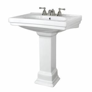 Foremost, Structure Lavatory and Pedestal Combo in White, FL-1950-8WH at The Home Depot - Mobile