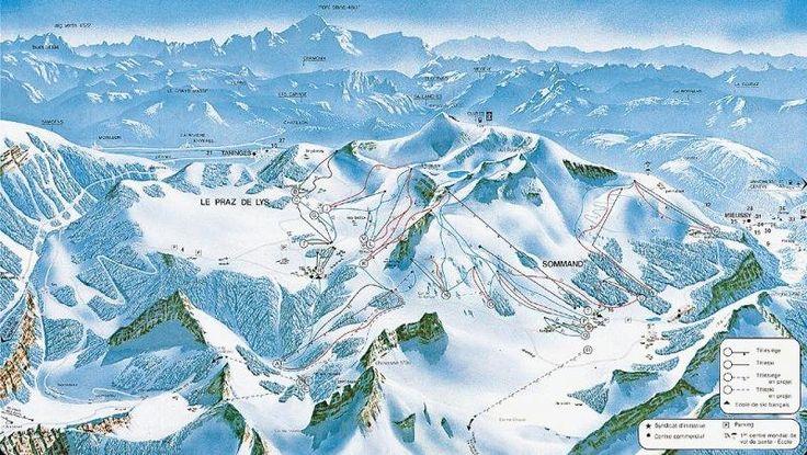 Mieussy,Sommand, perfect village ski holiday, 60 km skiing, 24 lifts, 34 ski runs at all levels -twinned with Praz de Lys.  Longest run, a whopping 10.5 km!