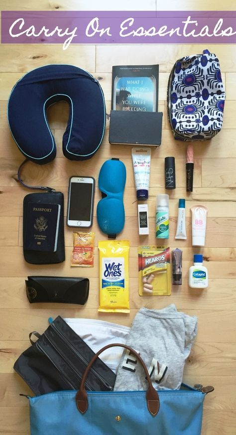 Carry On Essentials for your next long haul flight! #travel #wanderlust