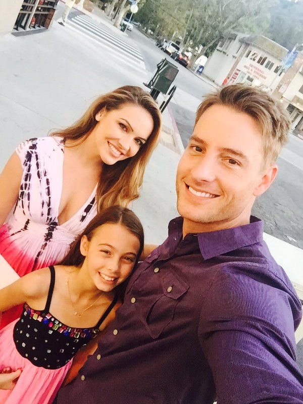 Justin hartley wife daughter the young and the for Isabella hartley