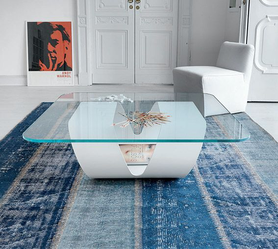 Ring in residential #interior with extralight #glass top and white base