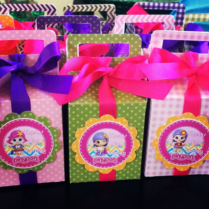 Pinypon birthday theme  Favor boxes #myshowerbox.com
