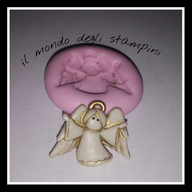 stampi, stampini silicone fimo,mold,angelo a braccia aperte cm 3*2,3
