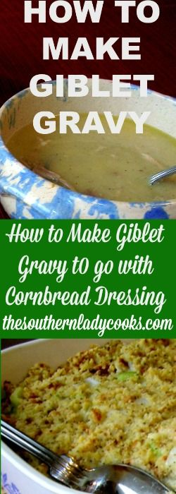 My family loves giblet gravy over cornbread dressing for the holidays. It is easy to make and is a wonderful addition to you holiday meal whether it be Thanksgiving or Christmas.  Giblet Gravy  …