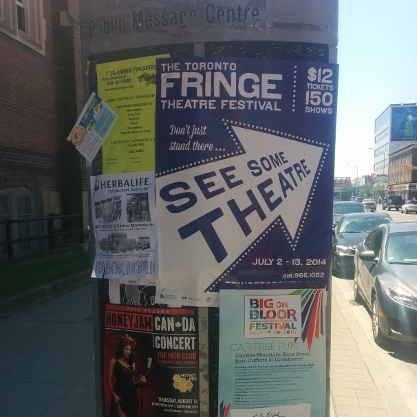 Follow the arrow to find great Fringe shows.