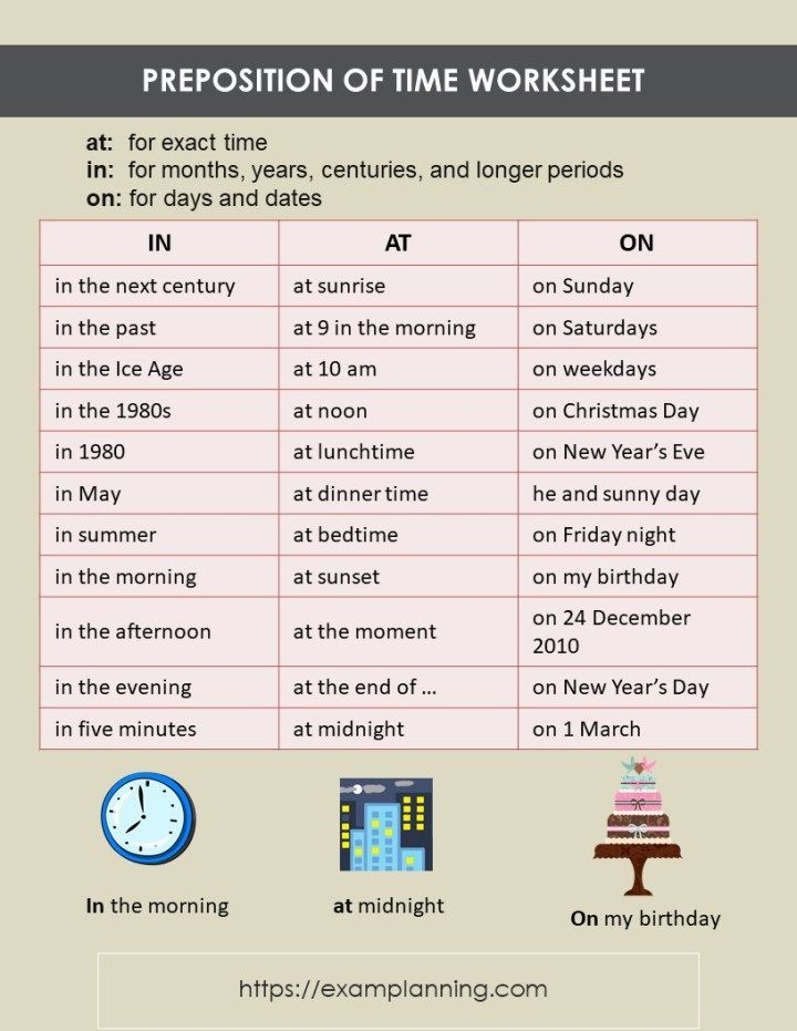 Preposition Of Time Worksheet Preposition Of Time And Place Prepositions Time Worksheets Preposition Worksheets