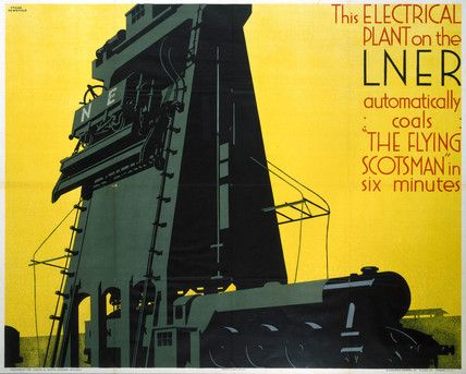 Refuelling the 'Flying Scotsman', LNER poster, 1932.