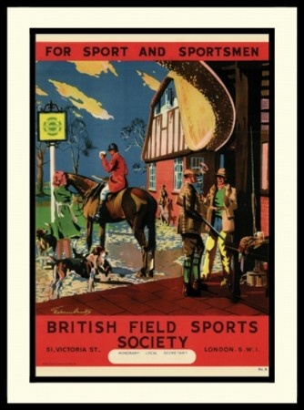 Vintage British Field Sports Society program. I love the colors on front of this program. Chocolate brown and red always look good together.