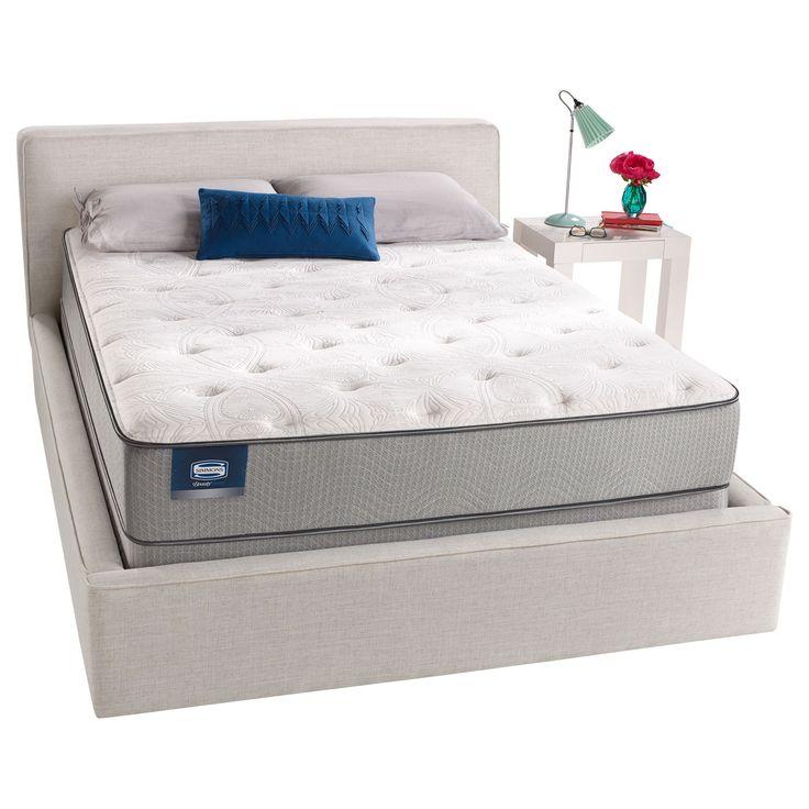 Simmons Beautysleep Stapleton Plush Twin Size Mattress Set Grey Furniture Outletonline