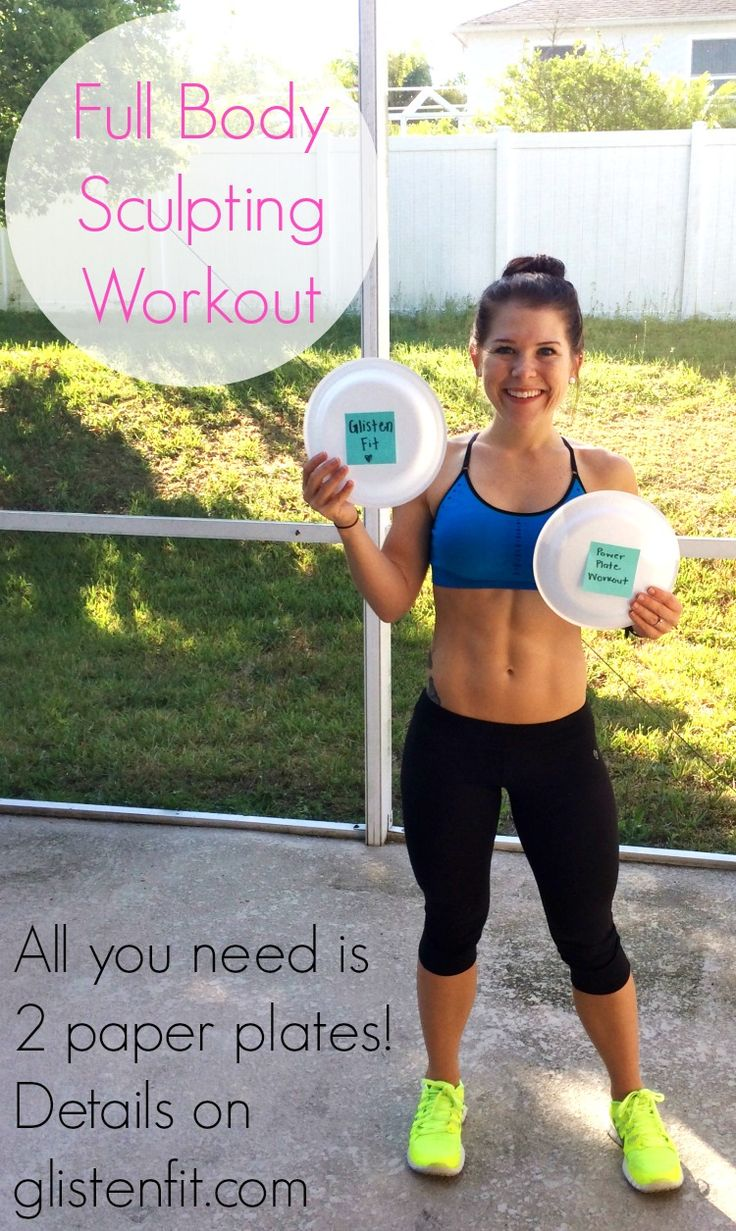 Full Body Workout using only 2 paper plates