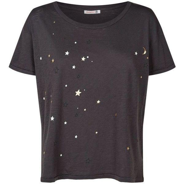 SUNDRY Stars Print Crewneck Tee