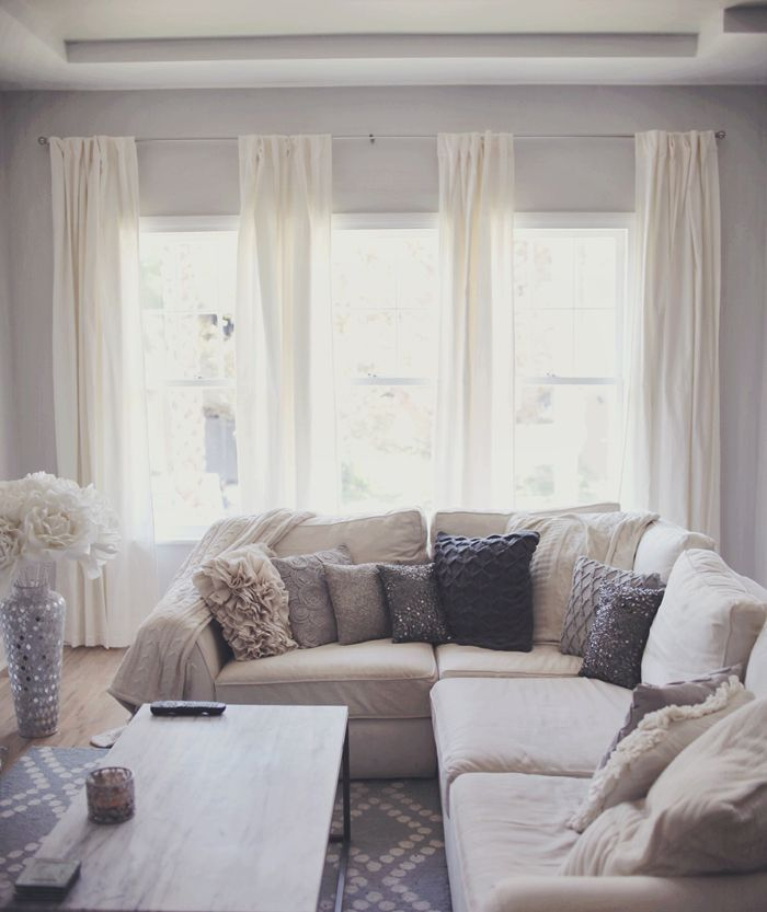 1000 ideas about ivory living room on pinterest living room neutral cream couch and cream sofa - Living room with cream walls ...