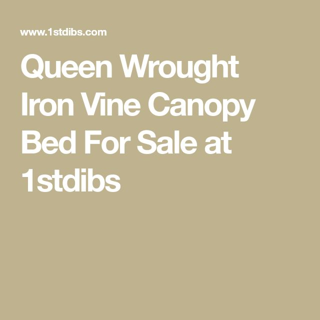 Queen Wrought Iron Vine Canopy Bed For Sale at 1stdibs