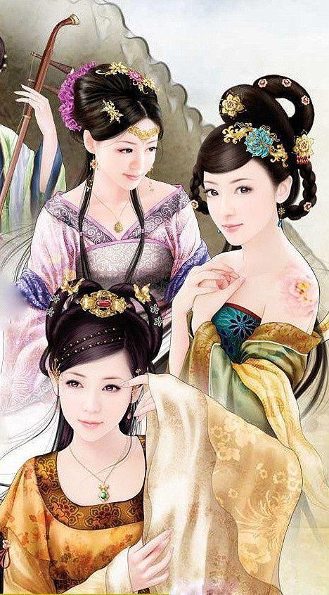 Chinese art Geisha art Asian art China art