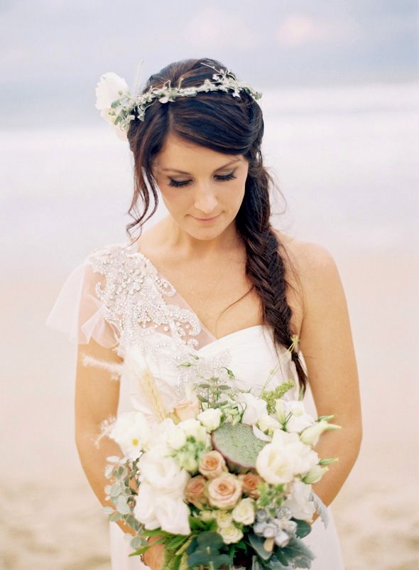 Stunning bride on Noosa Beach...