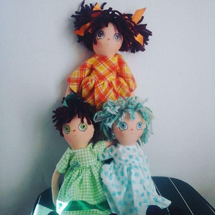 #dolls #rag dolls #lutke tri cice mice lutkice tice